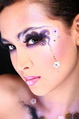 Фантазийный макияж городская мода